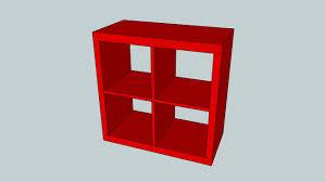 Ikea Kallax Shelving Unit Gloss Ikea Kallax Shelving Unit High Gloss Red 77x77 Cm 3d Warehouse
