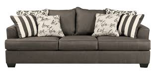 Pillow For Sofa by Levon Contemporary Charcoal Fabric Pillow Back Sofa Living Rooms