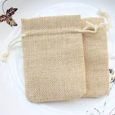 shabby chic wrapping paper 6 9cm small burlap bags with drawstring wedding birthday favor