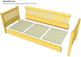 Day Bed Plans | day bed plans manual drawings measurements projects dma homes 32329