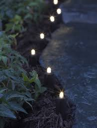Solar Powered Patio Lights String by Led Solar String Lights For Garden Borders And Paths Gardeners Com