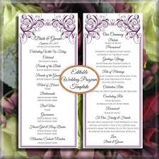 do it yourself wedding programs 26 best diy wedding program templates images on place