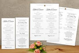 sle wedding program template diy wedding program template instantly editable text