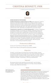 Phr Resume Human Resources Manager Resume Samples Visualcv Resume Samples