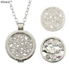 coin pendant necklace jewelry images Glinkin white gold fashion 33mm mi moneda coin pendant necklace jpg