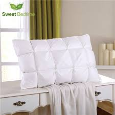 home design down pillow special home goose down pillow inserts feather cervical neck pillow