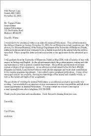 technical writer cover letter letter template