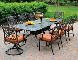 Cast Aluminum Patio Chairs Grand Tuscany 8 Seat Luxury Cast Aluminum Dining Set By Hanamint