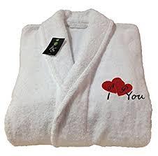 femme de chambre en anglais peignoir de bain robe de chambre blanc cadeau pour la