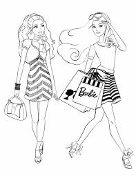 barbie coloring pages fashion funycoloring