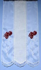 brise bise pour cuisine rideaux voilage rideau brodé et macramé