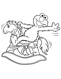 elmo riding rocking horse coloring u0026 coloring pages