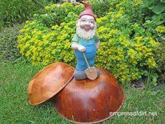 Garden Art To Make - how to make garden art toadstools garden art gardens and yard art