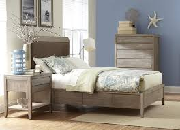 contemporary queen upholstered double sided storage bed by cresent