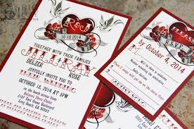 steunk wedding invitations rockabilly wedding invitation set with sparrow lovebirds and roses