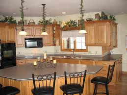 Natural Wood Kitchen Island by Custom Kitchen Island Kitchen With Dark Cabinetry With Rounded