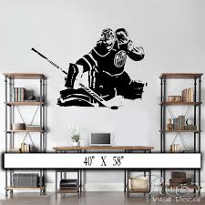 home decor store edmonton hockey goalie wall decal wall art vinyl sticker edmonton