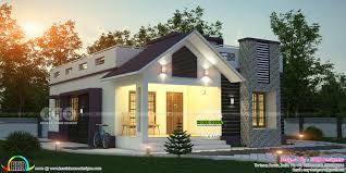 Kerala Home Design Thrissur by Single Floor 2 Bedroom Cute Home 1980 Sq Ft Kerala Home Design