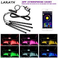 app controlled car lights 4pc app control 12led rgb led car atmosphere light auto cigarette