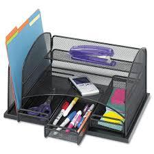 Paper Desk Organizer Interesting Stack Style Wood Desk Organizer Cherry Hayneedle To
