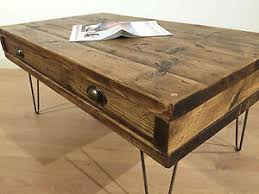 rustic solid wood coffee table rustic solid wood coffee table drawer reclaimed chunky wooden