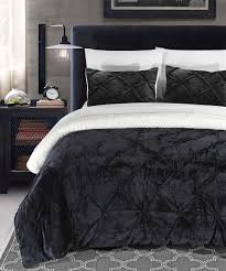 black eugenia plush comforter set home design zulily and home