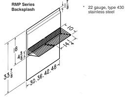 RMP Backsplashes Accessories Range Hoods Broan - Broan backsplash