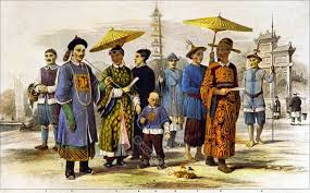 chinese and cochin chinese in their typical costumes costume history