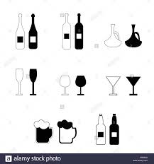 alcohol vector drinking beer silhouette stock vector images alamy