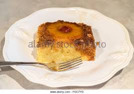 pineapple upside down cake stock photos u0026 pineapple upside down