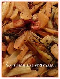 cuisiner le fenouille poêlée de navets fenouil lardons gourmandise et