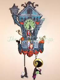 Blue Cuckoo Clock You Have To See The Nightmare Before Christmas Cuckoo Clock Great