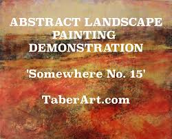 Abstract Landscape Painting by Abstract Landscape Painting Demo Youtube