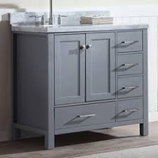 40 Bathroom Vanities Keywest 40 Bathroom Vanity Gray Offset Left Sink Royal Bath Place