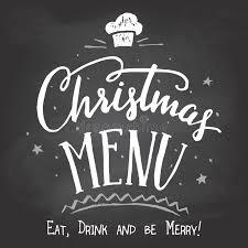 christmas menu on chalkboard background stock vector image 63080153