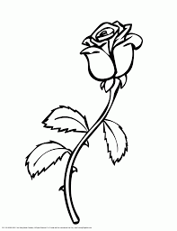 rose flower coloring page printable flowers new rose coloring