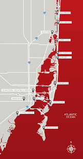 Coral Gables Florida Map by Map Of South Florida South Florida Map