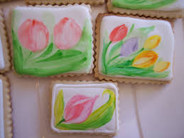 hand painting spring flowers on royal icing cookies youtube