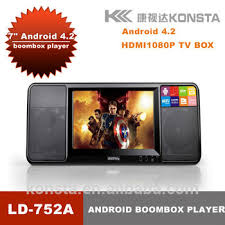 media player for android china supplier 7 android 4 2 hifi speaker li battery hd