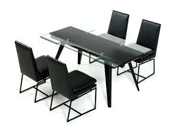 Glass Extendable Dining Table And 6 Chairs Glass Extendable Dining Table Culturesphere Co