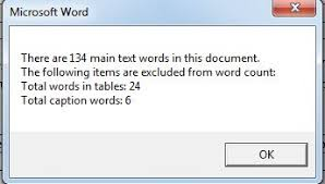 Vba Word Count Pages In Document 2 Methods To Exclude Table Texts From Word Count Statistics Data
