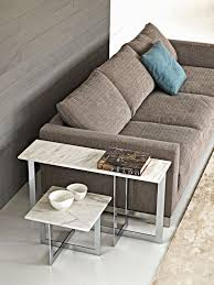 domino contemporary side table glass metal marble domino by