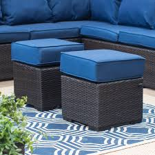 Blue Outdoor Cushions Belham Living Monticello All Weather Outdoor Wicker Sofa Sectional