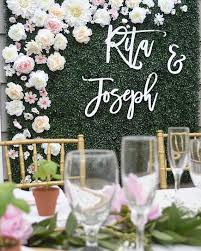 wedding backdrop font backdrop wedding sign laser cut wedding sign script name