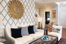 Kelly Wearstler Wallpaper by Living Room Featuring Quadrille Petite Zig Zag And Chiang Mai