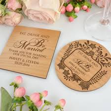 wedding coaster favors engraved wedding wooden coasters wedding placecard wooden