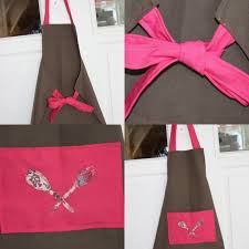 couture tablier de cuisine le tablier de cuisine fushia chocolat photo de petites coutures