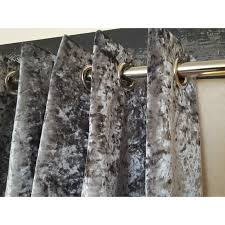 Heavy Grey Curtains Huge Heavy Silver Crushed Velvet 126