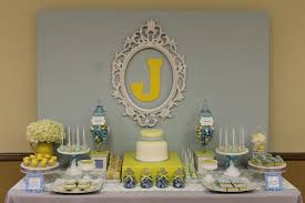 yellow and gray baby shower gray blue yellow baby shower baby shower ideas themes