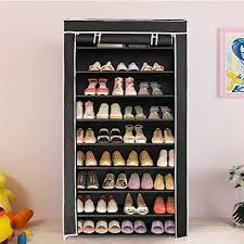 amazon shoe storage cabinet amazon com blissun 10 tiers shoe rack shoe storage organizer